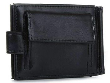 Black 2 Fold Money Clip Wallet