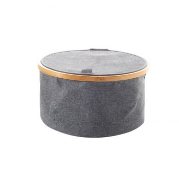 Sherwood Linen & Bamboo Round Laundry Bag with Cover 38*38*20cm