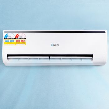 Devanti 7.0KW Split System Air Conditioner Cooler or Heater Reverse Cycle Cooling Heating Air Cooler White Home Office Summer R410A Refrigerant