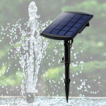 Solar Fountain Water Pump Kit Pond Pool Submersible Outdoor Garden 1.8W