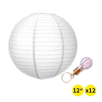 """Accents 12"""" Paper Lanterns for Wedding and Christmas Party"""