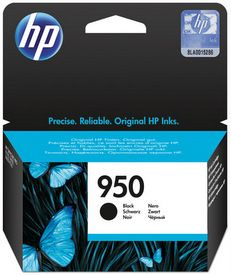 HP No. 950 Black Ink Cartridge - Estimated Page Yield 1000 pages - CN049AA