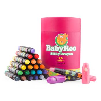 SILKY WASHABLE CRAYON -BABY ROO 24 COLORS