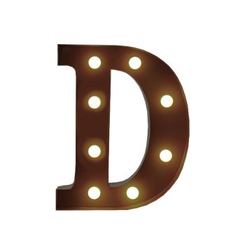LED Metal Letter Free Standing Hanging Lights Marquee Event Party Decor Letter D