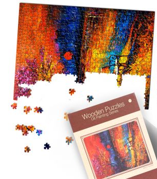Jigsaw Puzzles 1000 Piece DIY Basswood Puzzle for Children