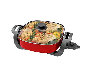 TODO 1500W Electric Frying Pan Skillet Multi Function Cooker Red Xj-12201