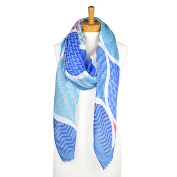 THSS2149: Blue: Abstract Nature Scarf