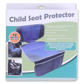Child Seat Protector - Blue & Grey