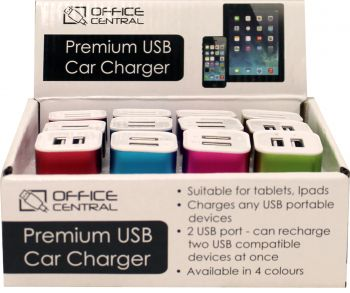 Charger Premium USB Car Fast IPads & Phones (223206)