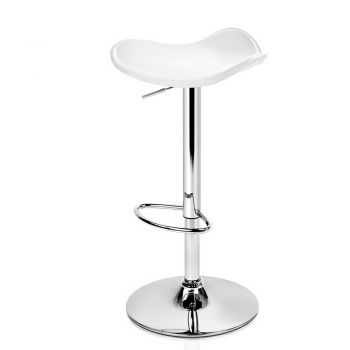 Artiss 4x Kitchen Bar Stools Swivel Bar Stool Leather Gas Lift Chair White