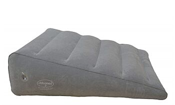 Inflatable Portable Bed Wedge Pillow with Velour Surface