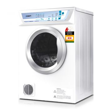 Devanti 7kg Tumble Dryer Adjustable Heat Air Vented Kit White