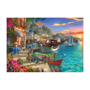 Aqua Marine 1500 Piece Jigsaw Puzzle   Take In The View Of A Beautiful Harbour