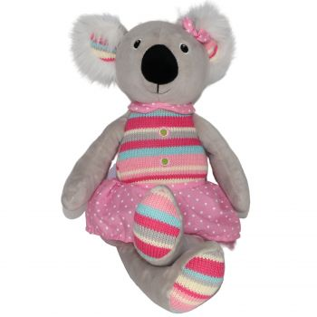 Plush Toy Koala - Pink/Stripe/Polka