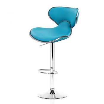 Artiss 4x Kitchen Bar Stools Swivel Bar Stool Leather Gas Lift Chairs Teal