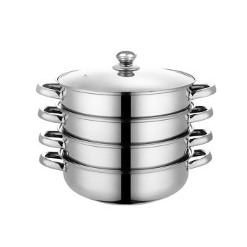3 Tier Stainless Steel Meat and Vegetable Steamer