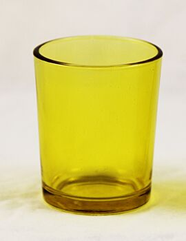 24 Pack - Canary Yellow Glass Table Tealight Candle Votive Cup Holder Party Decoration