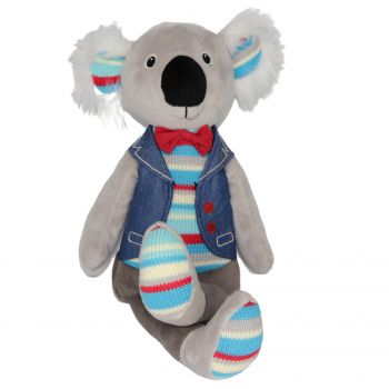Plush Toy Koala - Blue/Bowtie/Jacket
