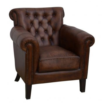Chocolate Leather Armchair