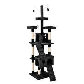 PaWz 2.1M Cat Scratching Post Tree Gym House Condo in Black