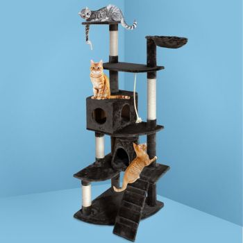 i.Pet Cat Tree Trees Scratching Post Scratcher Tower Condo House Furniture Wood 193cm