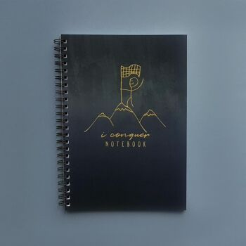 I Conquer - Spiral dotted notebook 100 pages A5