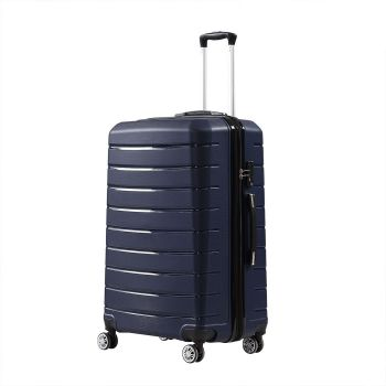 """28"""" Travel Luggage Expandable Suitcase Trolley Lightweight in Navy"""