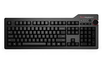 Das Keyboard 4 Professional Cherry MX Brown Mechanical Soft Tactile Keyboard for Windows and Linux, 2 USB 3.0 Passthrough Up to 5Gbps