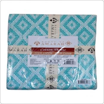 Luxury Cotton Throw 127x154cm Turquoise