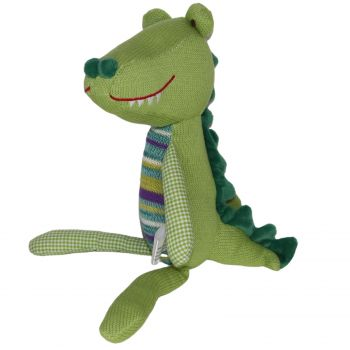 Plush Toy Crocodile - Green/Stripe