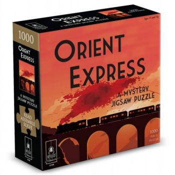 """Orient Express Classic Mystery Jigsaw Puzzle 8 x 8"""""""