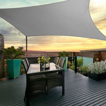 Instahut Sun Sail Cloth Shadecloth Outdoor Canopy Square 280gsm 6x6m Summer Shade