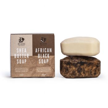 Deluxe Black & White Soap 280g (15 pack) - All Natural, Certified Organic, Fair Trade Soap