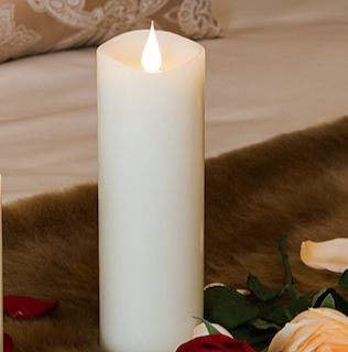 """9"""" White 3D Flickering Flame LED Candle"""