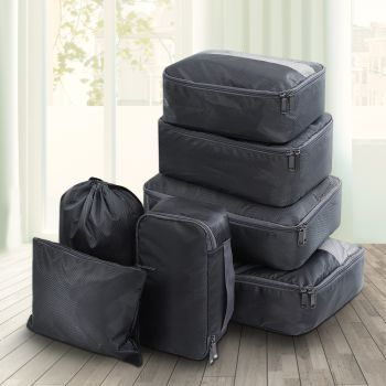 Wanderlite 7PCS Packing Cubes Travel Luggage Organiser Suitcase Storage Bag