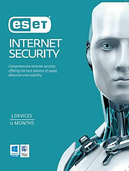 ESET Internet Security  3 Device 1 Year License via email