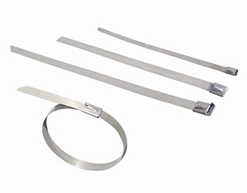 200Mm X 4.8Mm X 100 Stainless Steel Cable Ties