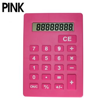 Jumbo Calculator Display Large Size with Big Buttons in Pink