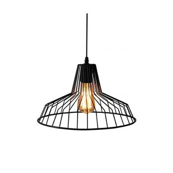 LUMINITE METAL CASE PENDANT BLACK 36.5X36.5X109CM