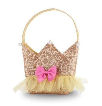 Forever Sparkle Crown Handbag-Yellow - Pack Size 2