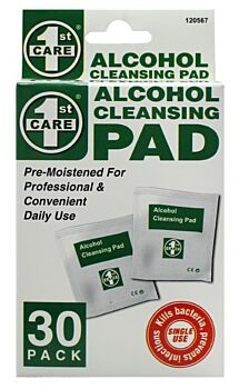 1st Care Alcohol Cleansing Wipes 30pk