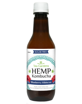 Hemp Kombucha Blueberry Hibiscus [48 bottles] - 350ml