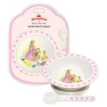 Bunnykins Suction Bowl & Spoon - Sweethearts