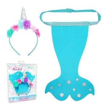 Narwhal Headband & Tail Set - Pack Size 2