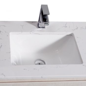 Aulic Vanity Basin Storage Cabinet for Bathroom 600mm with Stone Top