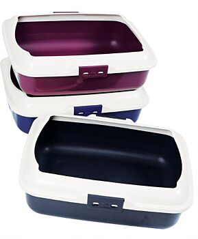 CAT LITTER TRAY TOILET WITH PLASTIC RIM