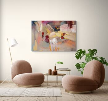 Abstract Ruby Rose Wall Art
