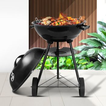 Grillz Charcoal BBQ Smoker Drill Outdoor Camping Patio Wood Barbeque Steel Oven