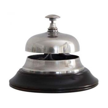 Authentic Model Sailor's Inn Desk Bell Decor - Silver