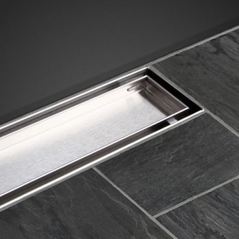 Cefito 1200mm Tile Insert Stainless Steel Shower Grate Drain Waste Linear Bath